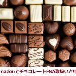 107.AmazonでチョコレートFBA取扱いと申請方法